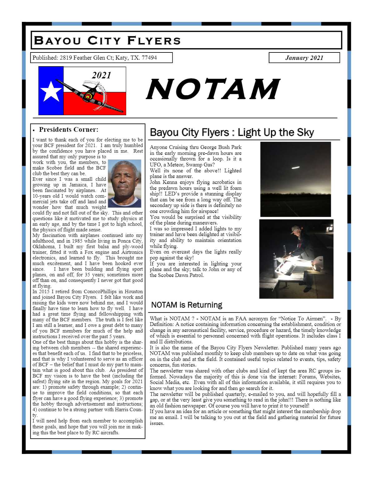 January issue of NOTAM