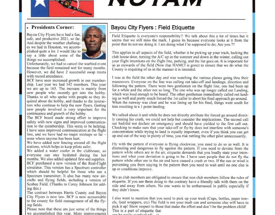 NOTAM October Newsletter